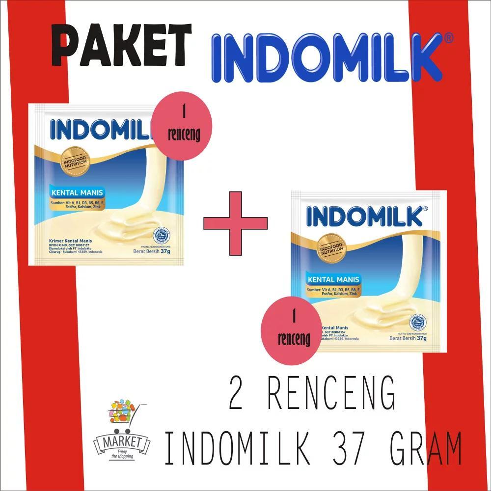 Promo 2 Renceng Indomilk Susu Kental 37 G By Market_id.