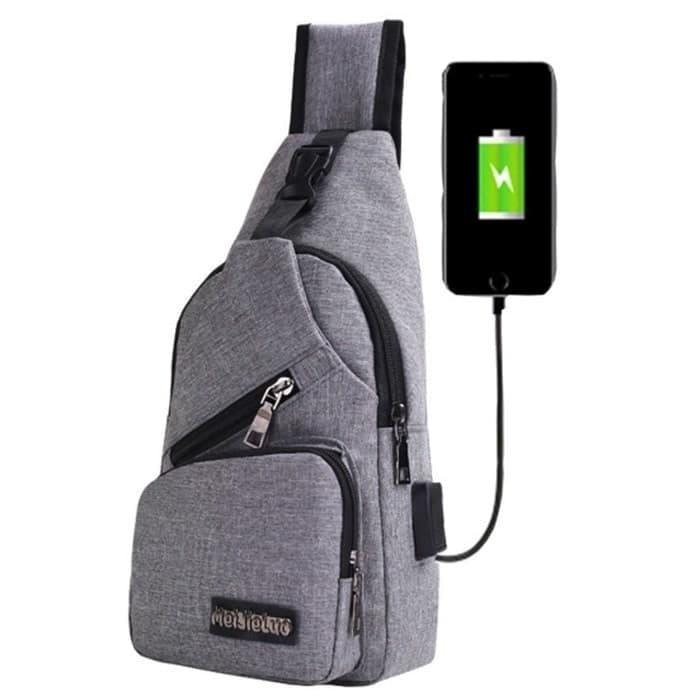 Tas Selempang Slempang Pria USB port charger B295 d3004a67b8