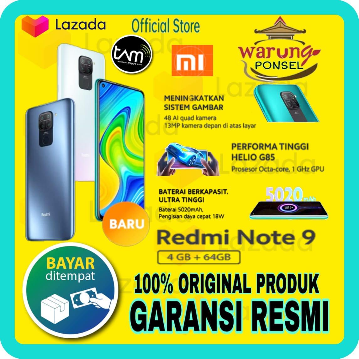 Redmi Note 9 (4GB+64GB) Helio G85 48MP Quad Kamera 5020mAh 6.53