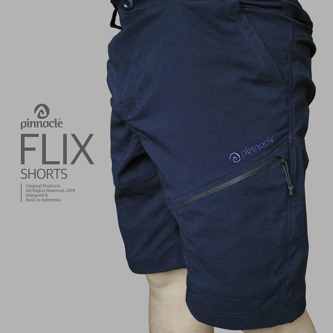 Celana pendek outdoor Pinnacle Flix - Celana quick dry cepat kering elastis ultralight - short pants gunung