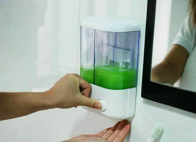 Laris49 DDS Dispenser Sabun dan Shampo 2 in 1 / Double Soap Dispenser / Tempat Sabun