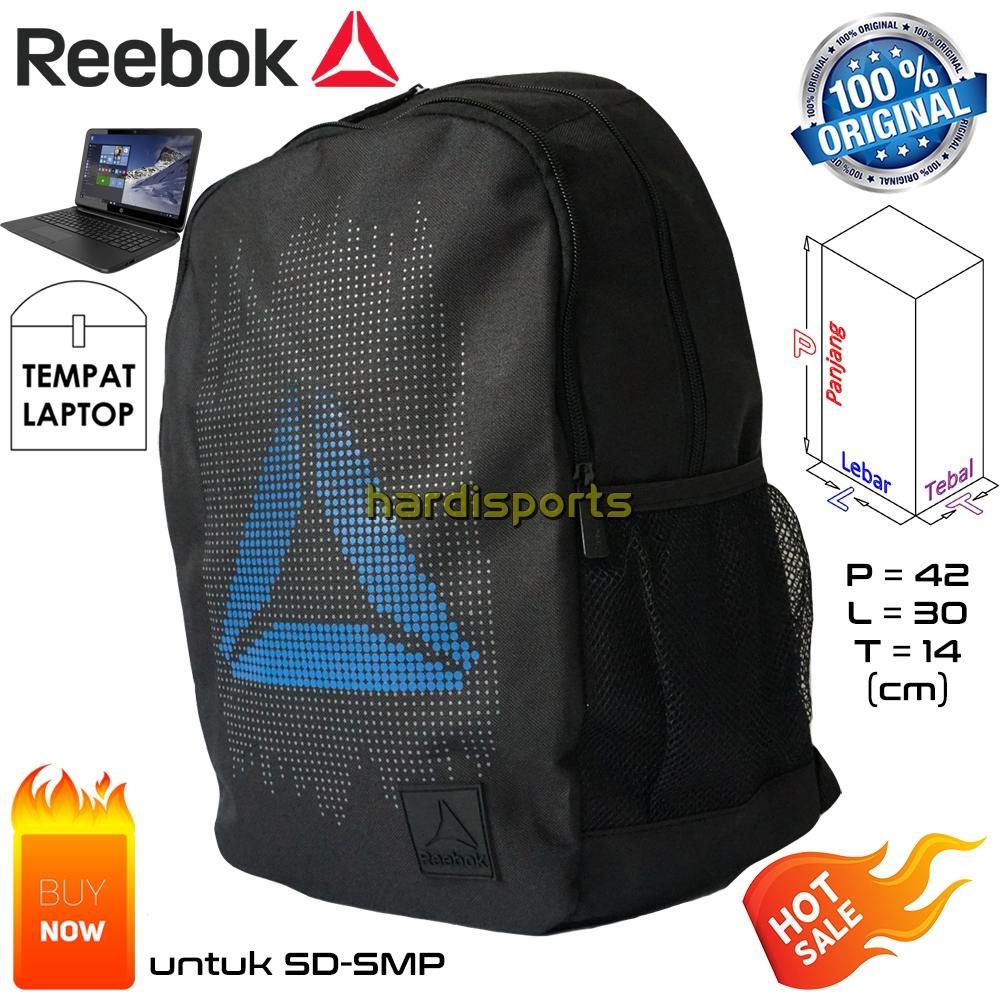 Tas Punggung Reebok Dot Backpack (U) BP803A - Black 5e51757bb1