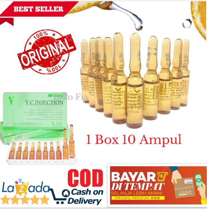 VC Injection Garis Lingkar Kuning 1 Box Isi 10 Ampul Original/Vit-C Pemutih Tubuh Whitening