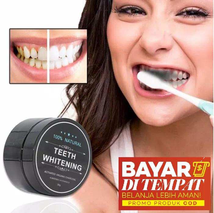 Yangma Charcoal Powder Pemutih Gigi Alami Teeth Whitening Charcoal Powder 30gr By Yangma.