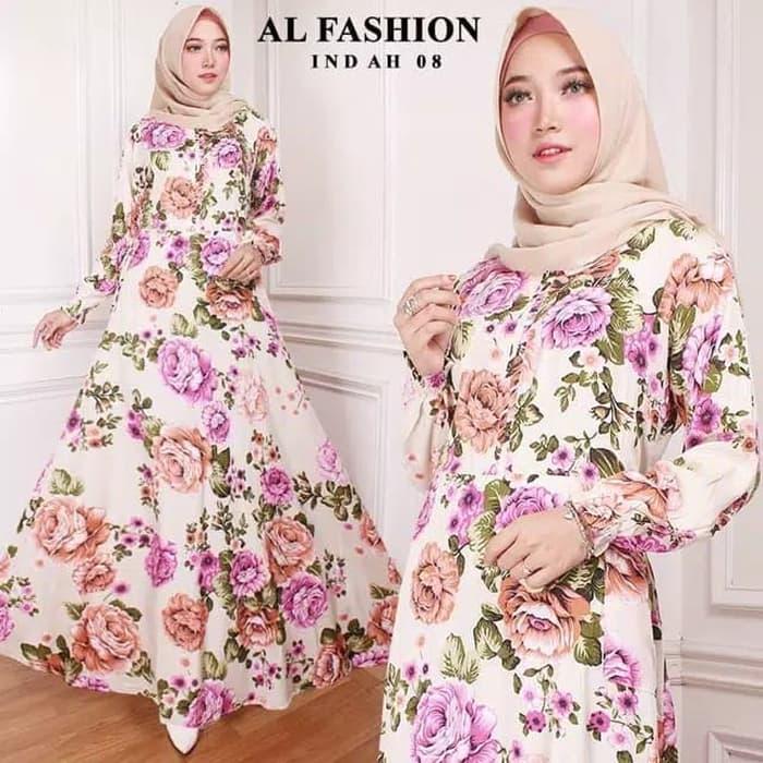 Gamis Motif Bunga Membeli Jualan Online Dress Dengan Harga Murah Lazada Indonesia