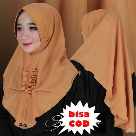 Hijab/Jilbab Instan untuk remaja Model khimar terbaru termurah dan Terlaris / Kerudung Wanita alesya / Dedek Jaya