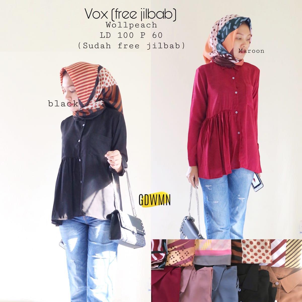 Blouse Vox Wollpeach Free Jilbab Random Model Baju Gamis Modern Terbaru 2019 Tunik Ceruti Polos Brokat Batik Kombinasi  Style Hijab ootd Pashmina Segi Empat Kebaya Wanita  Model Blouse Batik Putih