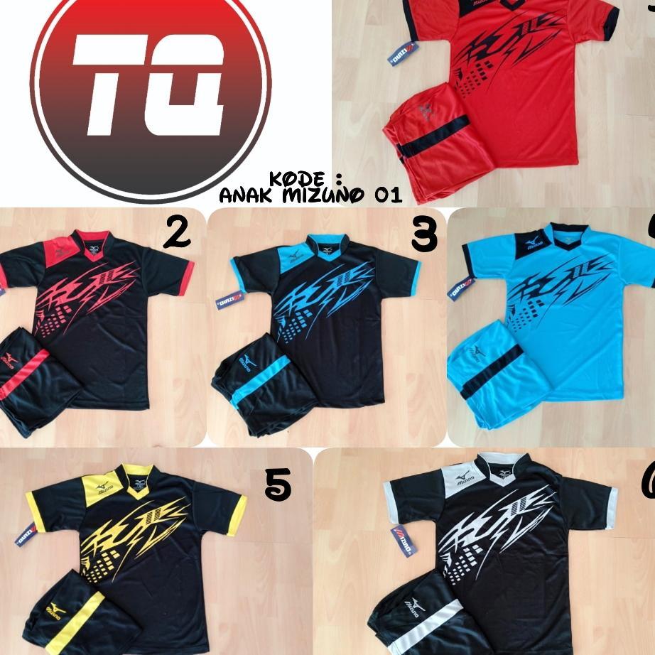 Baju Kaos Olahraga Jersey Bola Setelan Tim Futsal/volly [setelan Anak Mz 01] By Tqsport.