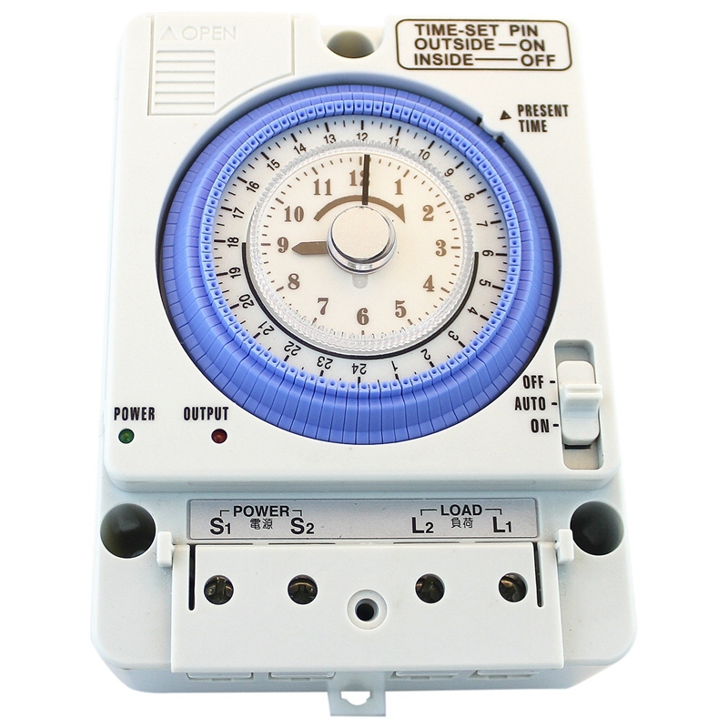 TB35N 100-240V 15A Din Rail Water Heater Programmable Timer Switch Time Controller Mechanical Timer Switch