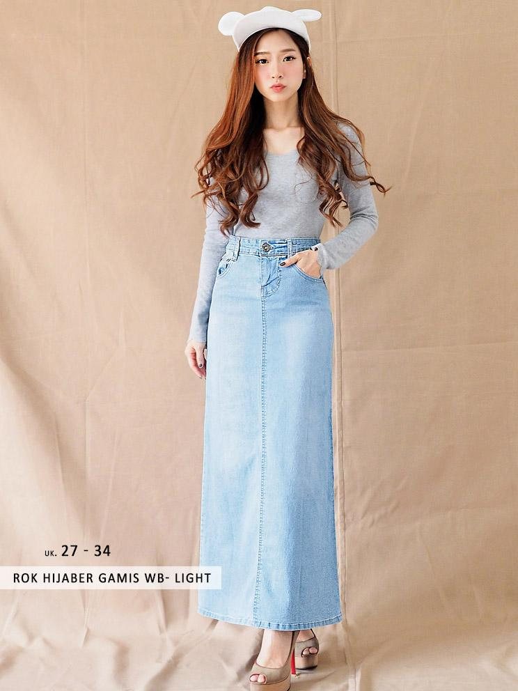 TERKINI - Rok Skirt Long Hijab - KOMBINASI Rok Panjang Gamis (UK. 27-