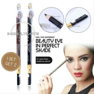 IMPLORA Eyebrow Pensil Original BPOM Pencil & Brush Drawing Eye Brow IMPLORA Set PA-02 BPOM thumbnail