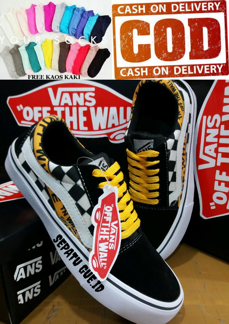 sepatugue.id@Sepatu Vans12 converse12 nike12_Off White 56 ITC Best Quality Authentic Old Skuul Pria Sneakers pria dan wanita joss