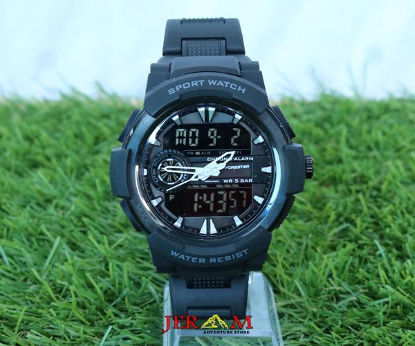 Jam Dual Time Krepyak Jam Pria Forester JTF 1015