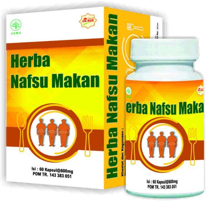 Herba Nafsu Makan isi 60 kapsul - griya an-nur