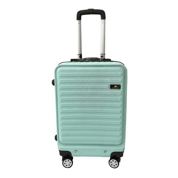 Polo Maple B41 Green Horizontal Strip Suitcase Cabin Koper [20 inch]