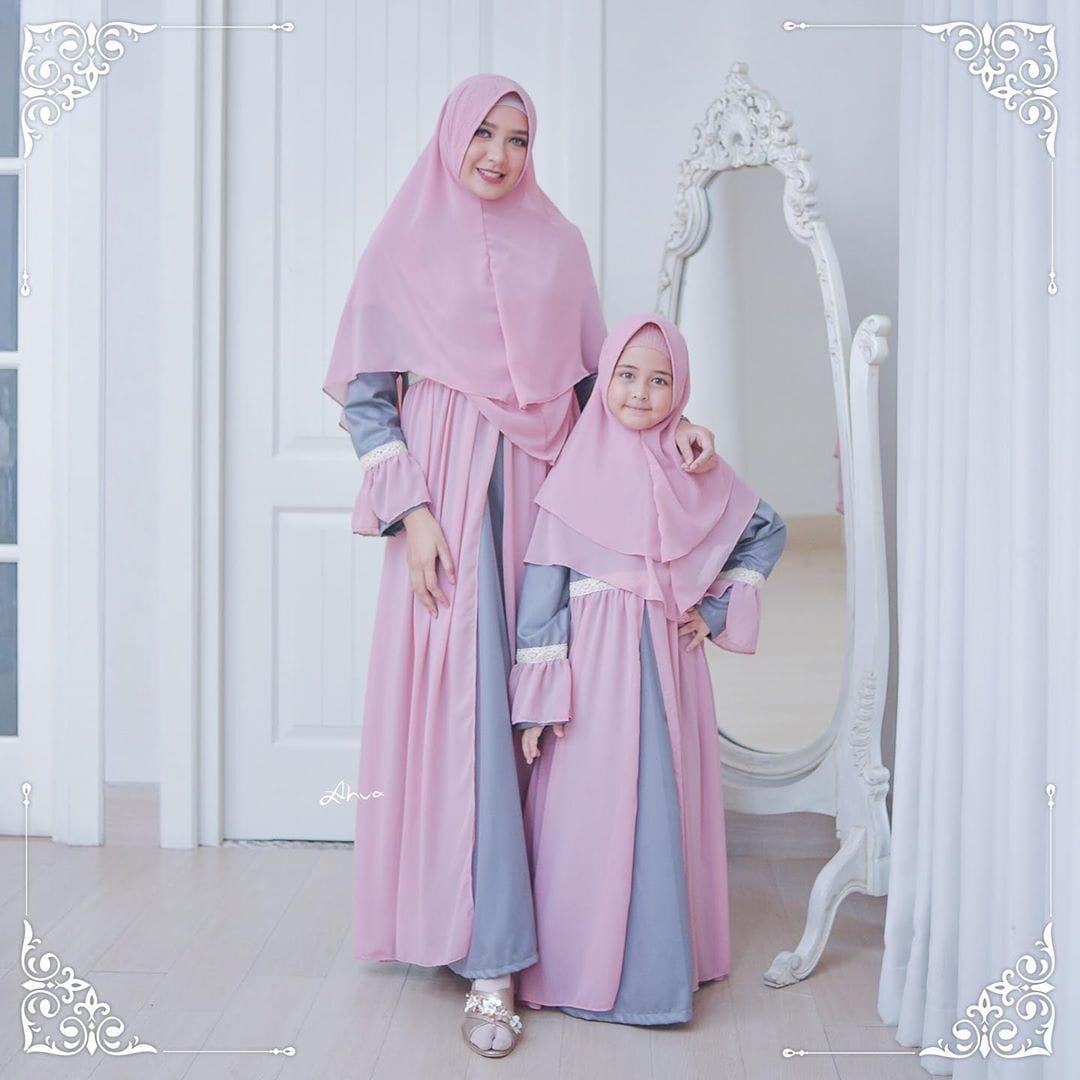 Mama & Mimi Couple / Baju Muslim Syari / Baju Muslim Ibu dan Anak / Baju  Muslim Couple Anak / Baju Muslim Couple / Gamis Syari / Gamis Syari Ibu dan
