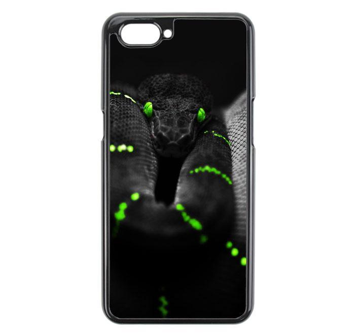 Casing For Oppo A3S black green snake E1772