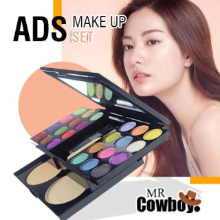 [ PAKET BEAUTY COMBO ] - [ GRATIS IMAGES EYESHADOW ] ADS Make Up Set Pallate Lengkap - Eyeshadow Pallette Palette Palet Make Up Set Make Up Kit Makeup Kit Make-Up Kit Lengkap Komplit Lipstik Bedak Powder Fashion Colours 33 Warna thumbnail