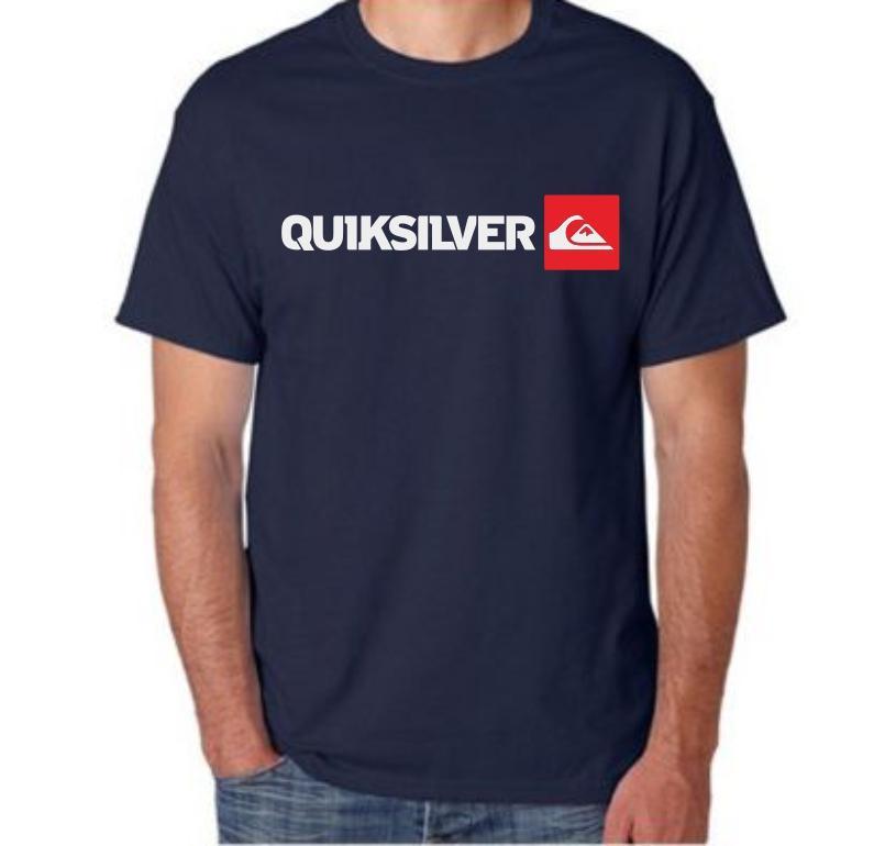 kaos T-shirt distro baju kaos pria wanita kaos logo quiksilver