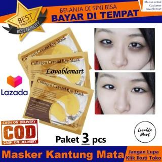 PAKET 3 PCS - Collagen Crystal Eye Mask Lovablemart Masker Mata Panda Emas Gold Collagen Crystal Eye Mask thumbnail