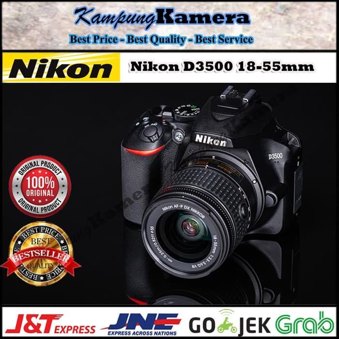 Obral! Nikon D3500 18-55Mm Dslr Camera / Kamera Dslr Original