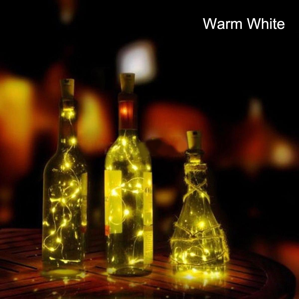 1pcs Solar 2m Led Cork Shaped 20 Led Night Fairy String Light Kork Solarbetrieben Licht Wine Bottle Lamp Party Celebration Gift Valentines Blue By Ycitc.