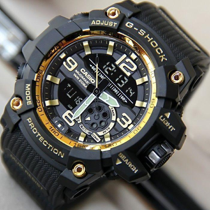 JAM TANGAN PRIA CASUAL CASIO MUDMASTER - DUAL TIME - TALI RUBBER LIMITED EDTION