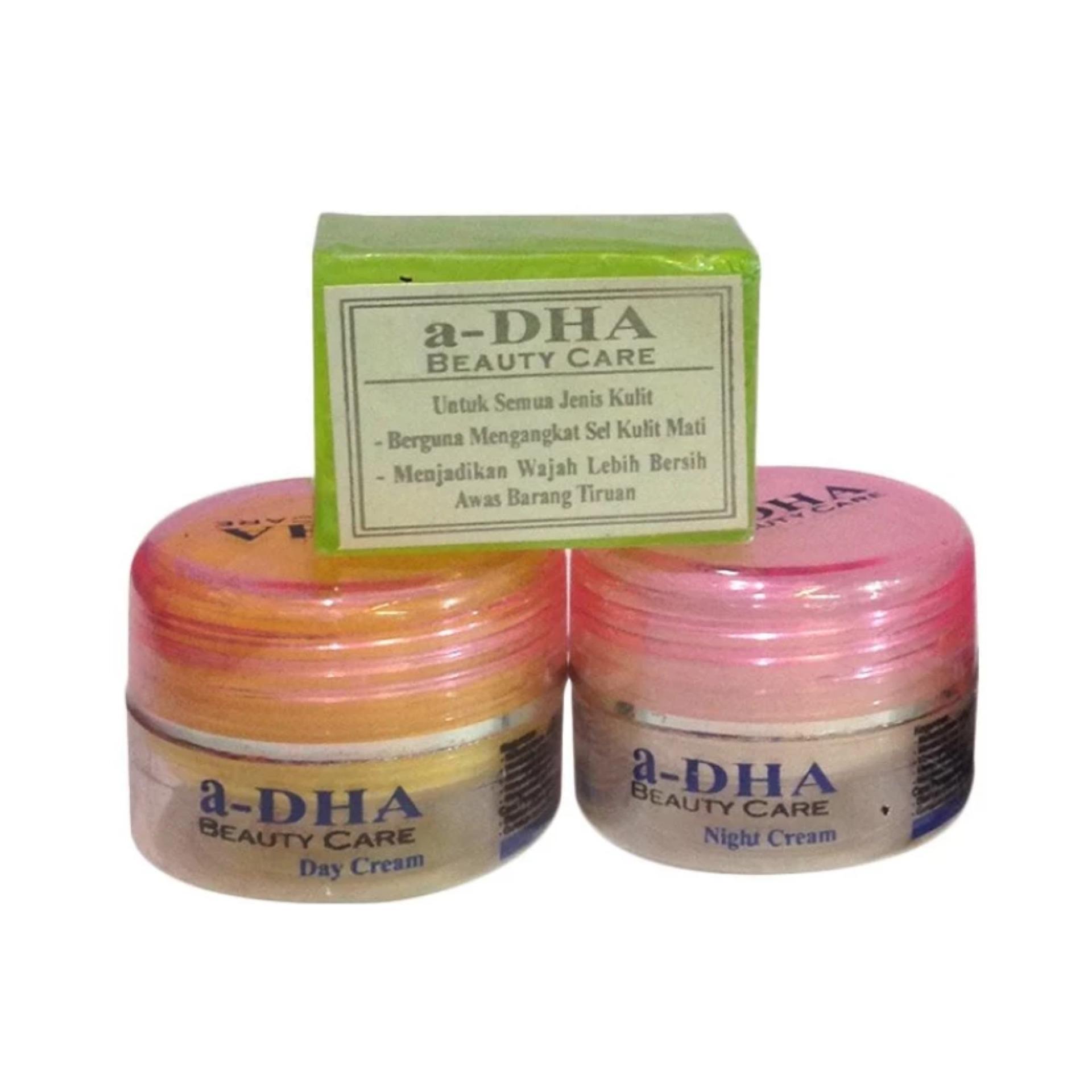 Adha Paket Cream Pemutih Wajah - Pink [40 Tahun Kebawah]