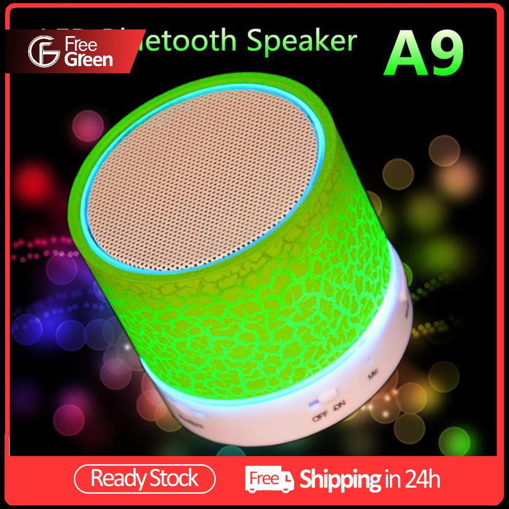 A9 Bluetooth Speaker Mini Wireless Loudspeaker Crack LED TF USB Subwoofer bluetooth Speakers mp3 stereo audio music player Malaysia