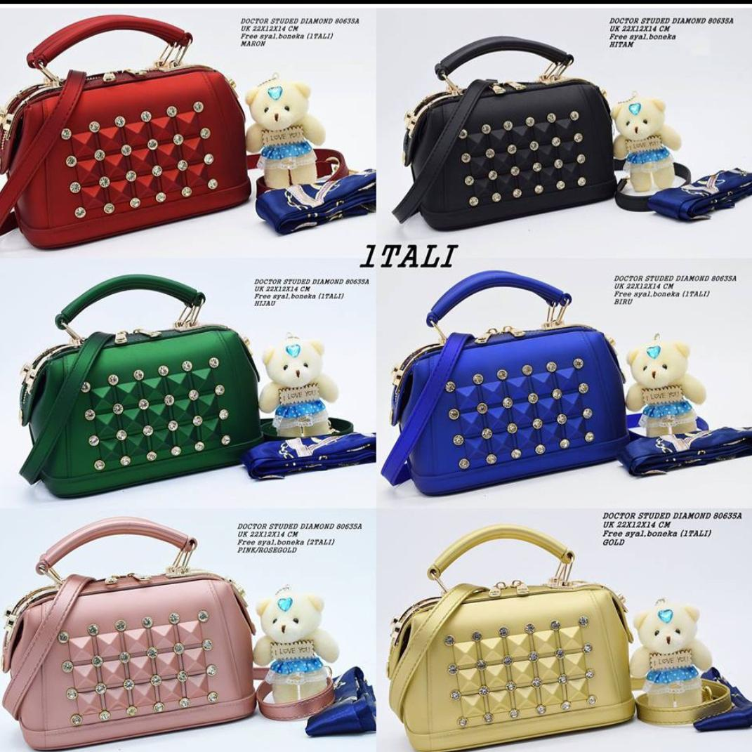 Tas JELLY MATTE DOCTOR STUDED DIAMOND 5ea142a415