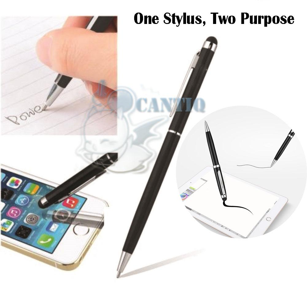 QCF Stylus Pen With Ballpoint For Smartphone And Tablet / Stylus Touch Screen Pen + Ada
