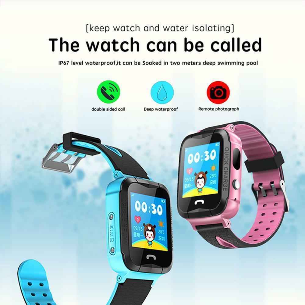 S12 Children Smart Watch Lbs Tracker Ip67 Waterproof Fitness Sport Watch Intelligent Photo Taking Step Safety Child Phone Watch Watches