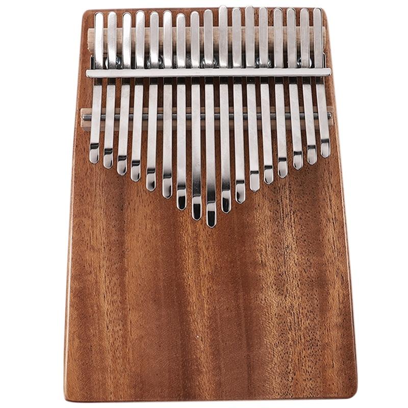 17 Keys Kalimba Mahogany Thumb Piano Musical Instrument with Tuning Hammer Cloth Sticker Bag Kalimba Accessories Malaysia