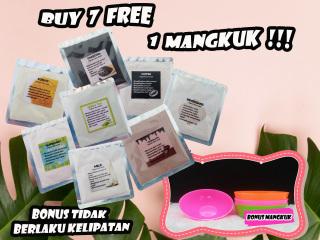 [7 Free 1 pcs Mangkuk ] 5gr Face Organic Mask Masker Organik Masker Kecantikan Spirulina Masker viral thumbnail