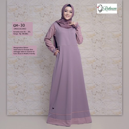 Gamis Rahnem Terbaru Gm 30 Fashion Muslim Lazada Indonesia