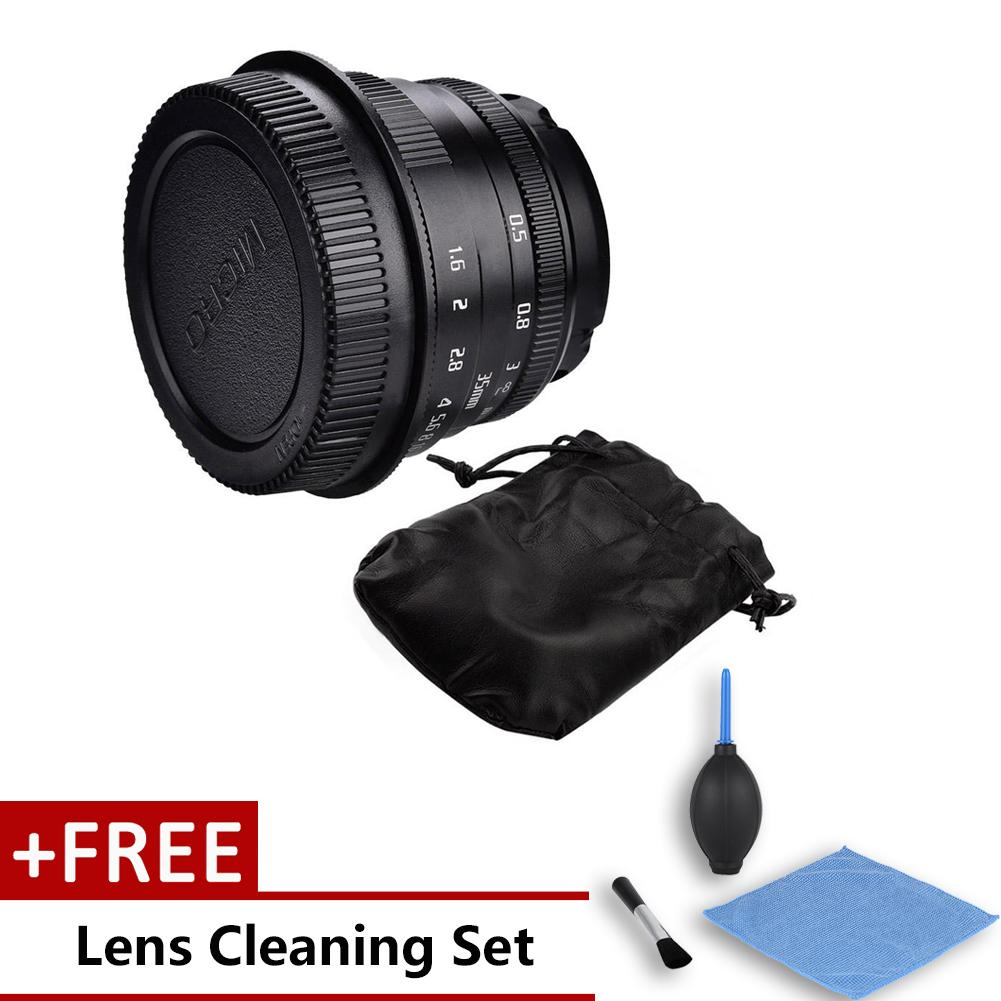 Freegift 35mm F1.6 Manual Focusing Lens For Mirrorless Cameras Photography Accessories (for Canon Mount) By Duoqiao.