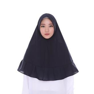 (Belilah Hijab) Hijab Khimar Rempel - Jilbab / Hijab KHIMAR PET - Kerudung -Jumbo Syari - Kmhimar wolfis-hijab terbaru 2019 - Set syari polos