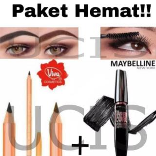 UCIS - Promo 1 pcs Pensil Alis Viva + 1 pcs Mascara MAYBELLINE Hyper Curl Pensil Alis VIVA Mascara WATERPROF TAHAN LAMA kosmetik thumbnail