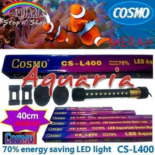 TERLARIS Cosmo CS-L400 Lampu LED 40cm Aquarium Underwater Light Warna Merah - LUmLJNOJ