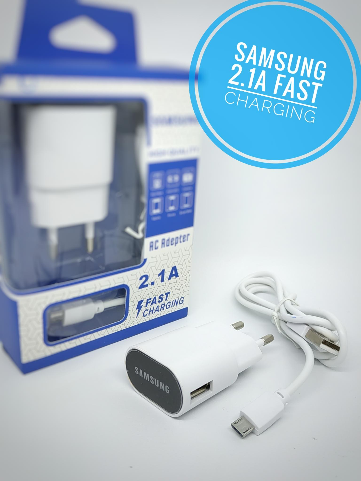 Samsung AC Adapter 2.1A Fast Charging TCLEDSAMS