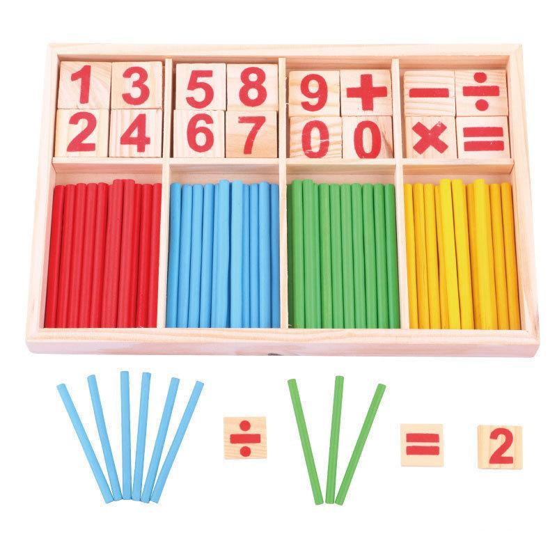 MOMO Mathematical Intelligence Stick Ages 3+ - Mainan Kayu Edukasi
