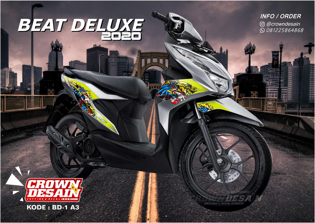 420desain Sticker Striping Honda Beat Deluxe 2020 Aksesoris Stiker Motor Beat 2020 Lazada Indonesia
