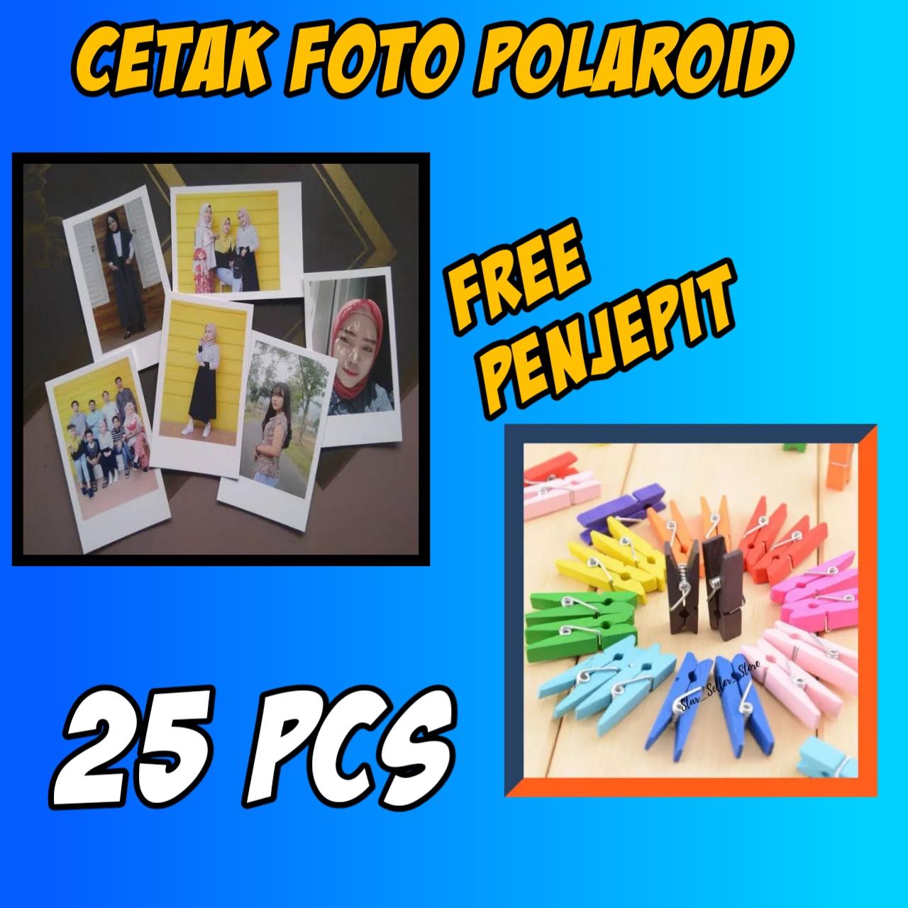 Cetak Foto Polaroid Gratis Penjepit Ukuran 7 Cm X 9 Cm Glossy Mengkilap Lazada Indonesia