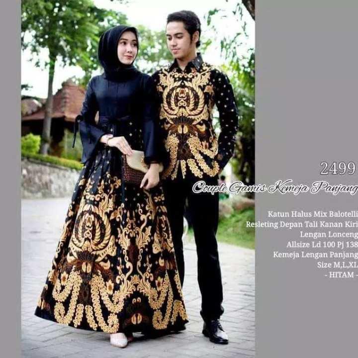 Model Baju Gamis Perpaduan Batik: Batik Couple / COUPLE BATIK / Baju Muslim