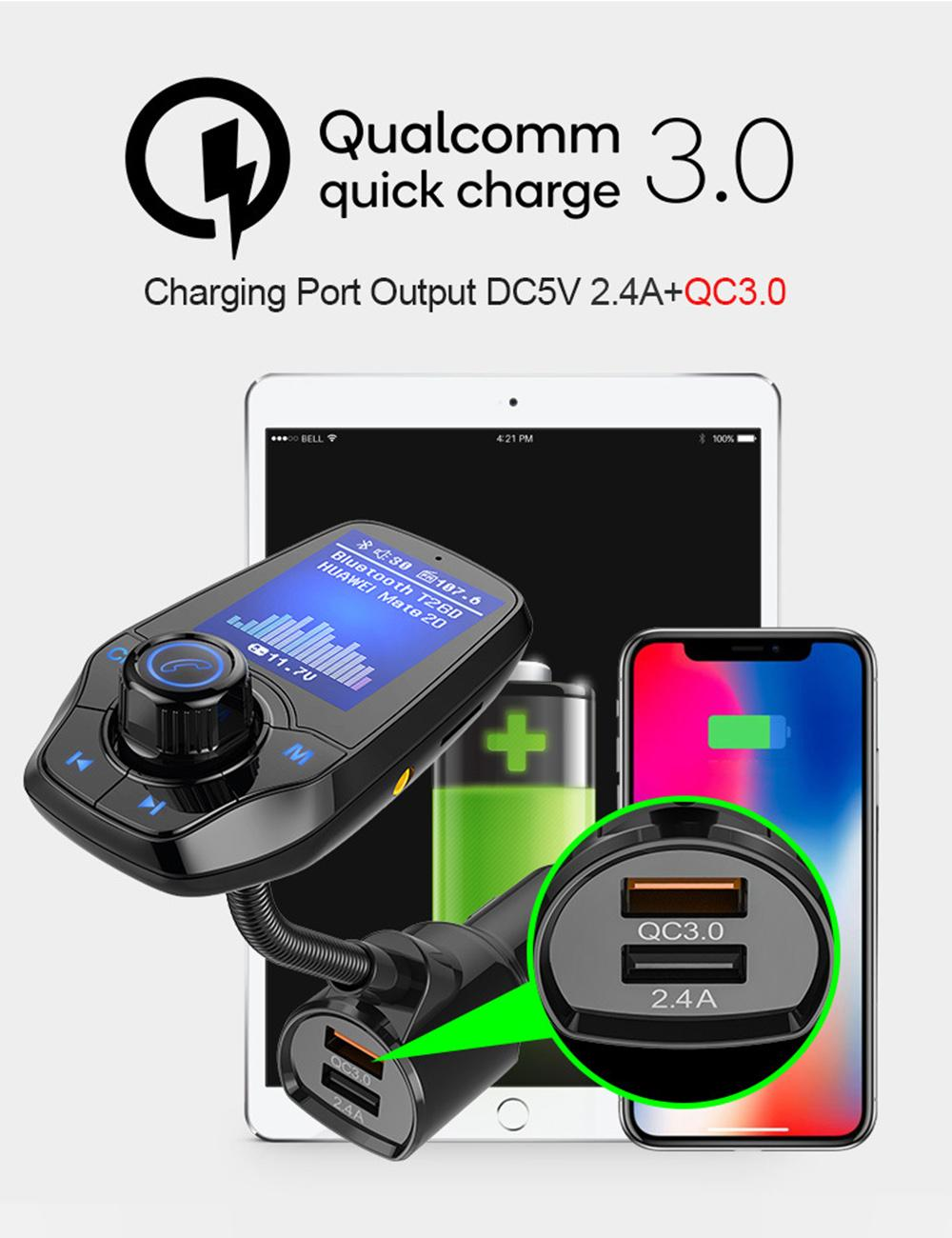 Vigo:T26D Dual USB ChargingStations Car 1 44 Inches Large Screen High  Stereo USB Flash Memory TF Card FM Noise Reduction Hand-free Flexible