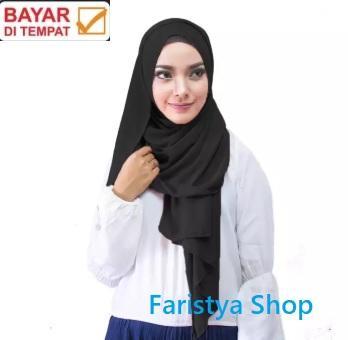 Faristya Shop - Hijab Pashmina Sabyan BABYDOLL CERUTY Import Premium - Jilbab Pasmina Ceruty - Pashmina Panjang - Kerudung Simple