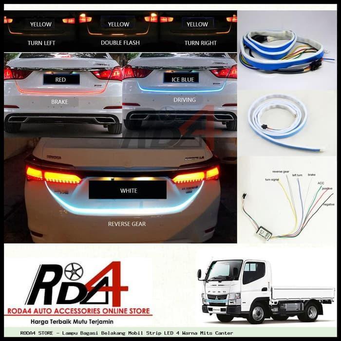 Lampu Bagasi Belakang Mobil Strip LED 4 Warna Mits Canter