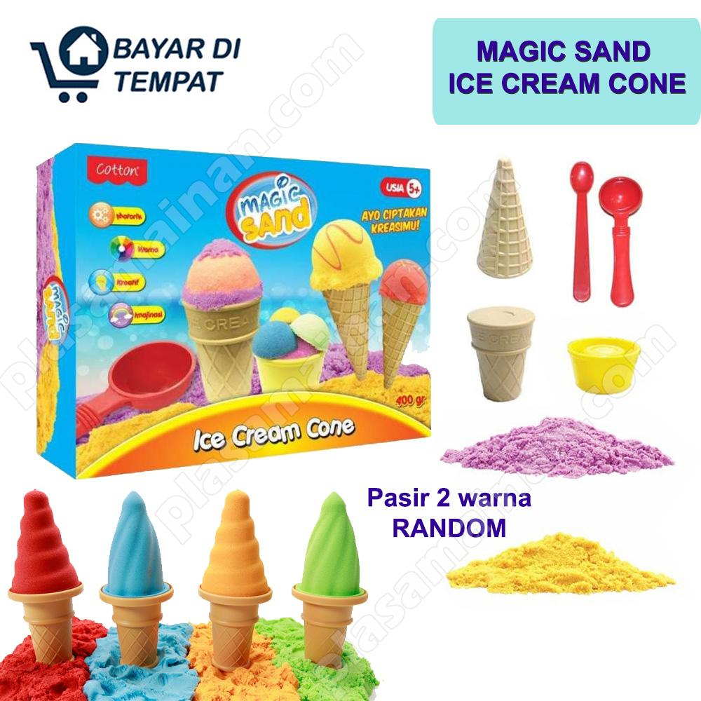 Aa Toys 49041 Mainan Anak Magic Sand Ice Cream Cone - Mainan Pasir Pasiran / Mainan Pasir Kinetik By Plasamainan.