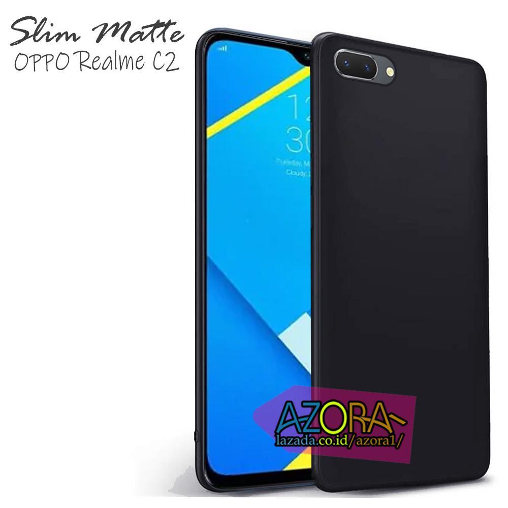 Case Slim Black Matte Oppo A1K Realme C2 ( 6.1 Inch ) Baby Skin Softcase Ultra