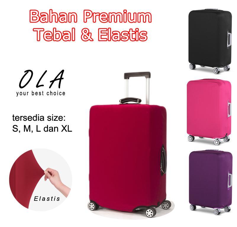 Premium Sarung Koper Elastis Luggage Cover Elastic Pelindung Koper Polos Bahan Tebal By Ola Travelmate.